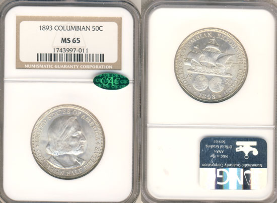 PCGS or NGC Columbian Half Dollar