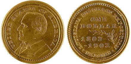 1903 Louisiana Purchase Gold Dollar