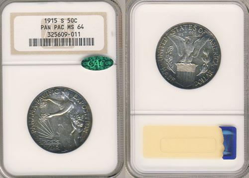 PCGS or NGC Panama Pacific Half Dollar