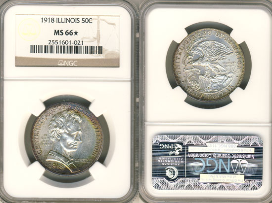 PCGS or NGC Illinois Centennial Half Dollar