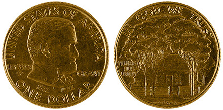 1922 Ulysses S Grant Gold Dollar