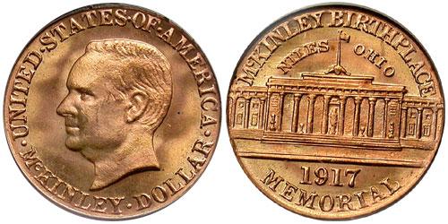 1917 McKinley Memorial Gold Dollar