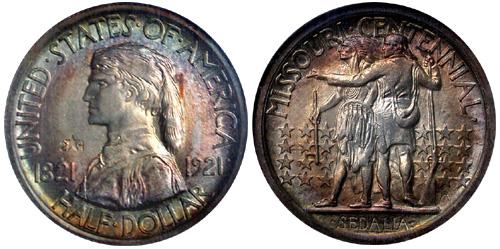 1921 Missouri Half Dollar
