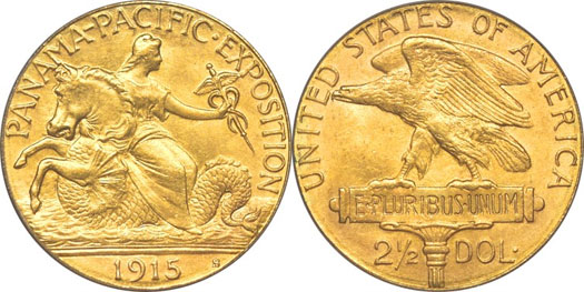 1915 Panama Pacific Exposition Quarter Eagle