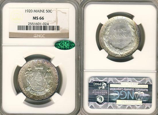 NGC or PCGS Maine Centennial Half Dollar