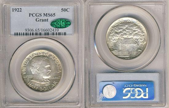 PCGS or NGC Grant Half Dollar