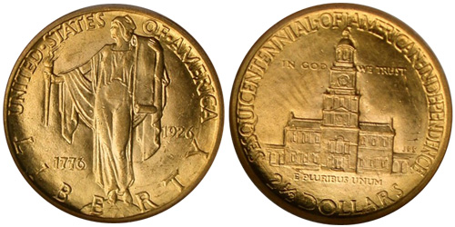 1926 Sesquicentennial $2.50 Gold Quarter Eagle