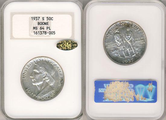 PCGS or NGC Daniel Boone Half Dollar