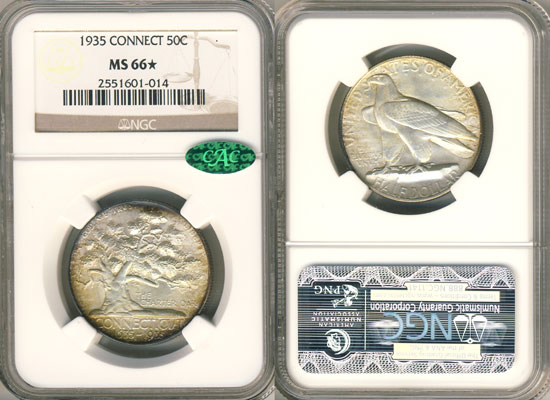 PCGS or NGC Connecticut Half Dollar