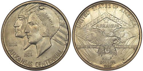 1935-D Arkansas Centennial Half Dollar