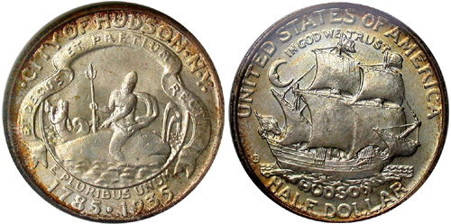 1935 Hudson Sesquicentennial Half Dollar