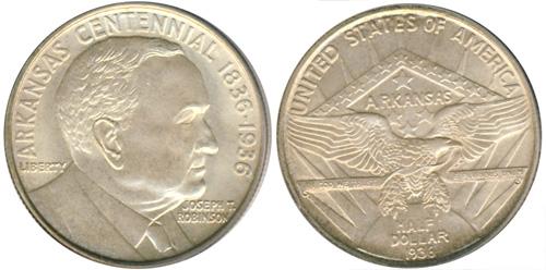 1936 Robinson-Arkansas Half Dollar