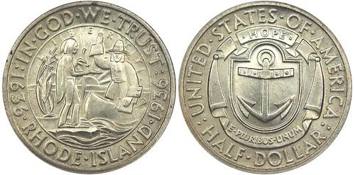 1936 Rhode Island Half Dollar