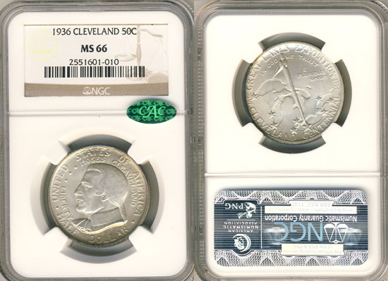 PCGS or NGC Cleveland Half Dollar