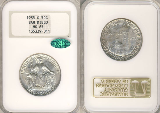 PCGS or NGC San Diego Half Dollar