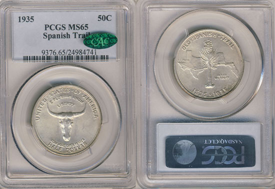 PCGS or NGC Spanish Trail Half Dollar