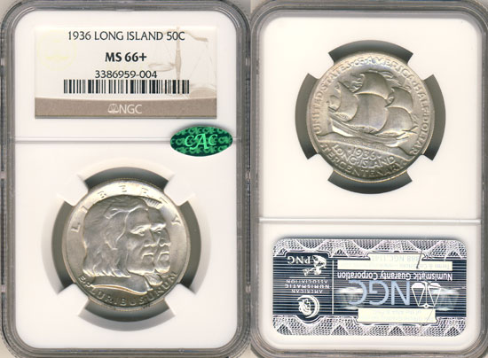 PCGS or NGC Long Island Half Dollar