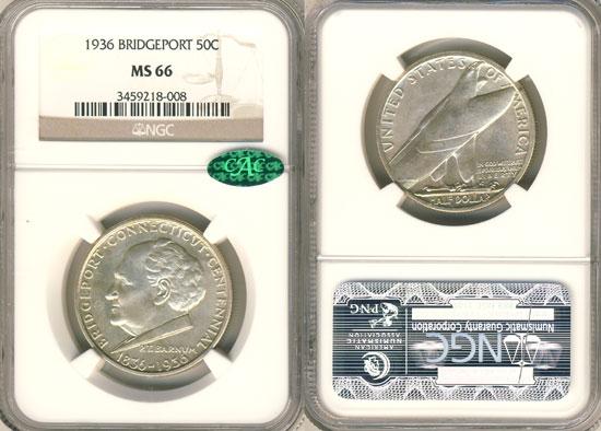 PCGS or NGC Bridgeport Half Dollar