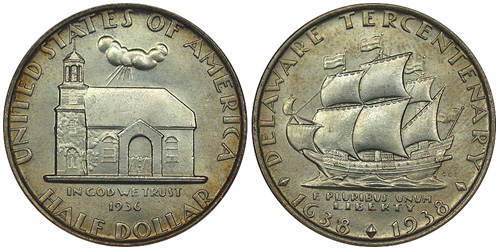 1936 Delaware Tercentenary Half Dollar