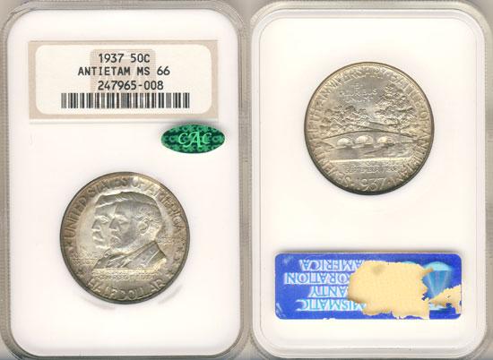 PCGS or NGC Antietam Half Dollar