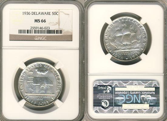 PCGS or NGC Delaware Half Dollar