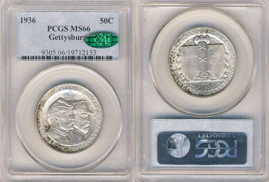 PCGS or NGC Gettysburg Half Dollar