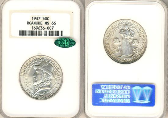 PCGS or NGC Roanoke Half Dollar